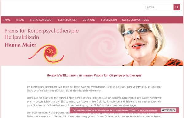Vorschau von www.therapie-hannamaier.de, Maier, Hanna