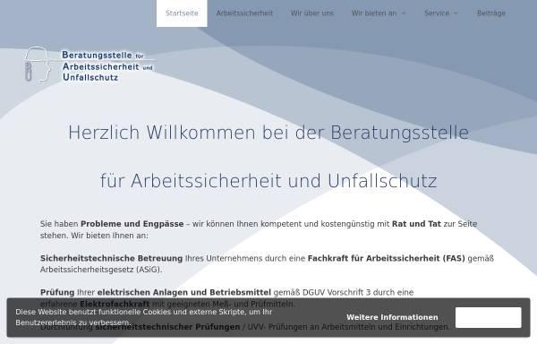 Vorschau von www.sicheresarbeiten.de, Beratungsstelle für Arbeitssicherheit und Unfallschutz
