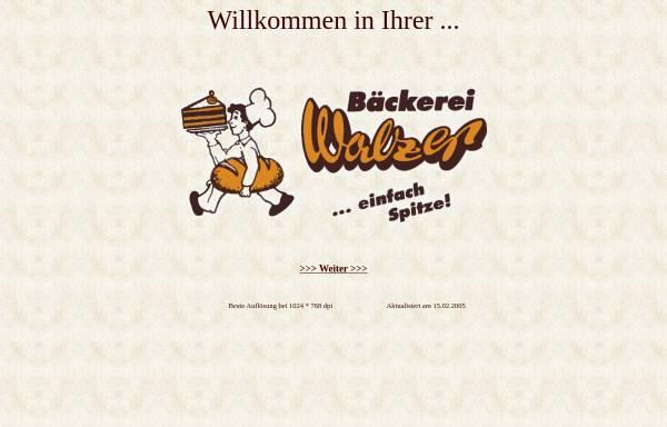 Vorschau von baeckerei-walzer.de, Bäckerei Walzer