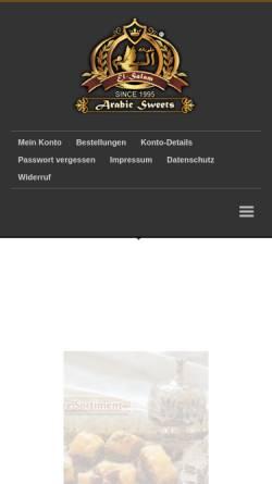 Vorschau der mobilen Webseite el-salam.com, EL-Salam