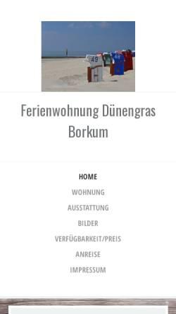 Vorschau der mobilen Webseite www.ferien-auf-borkum.net, Haus Dukegat