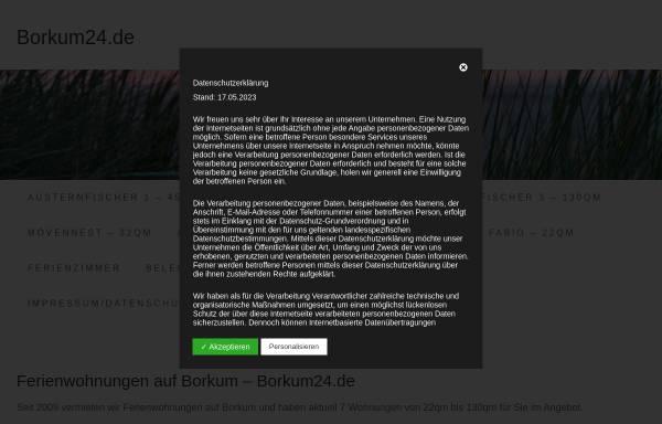 Vorschau von www.borkumer.com, Ferienwohnung Borkum