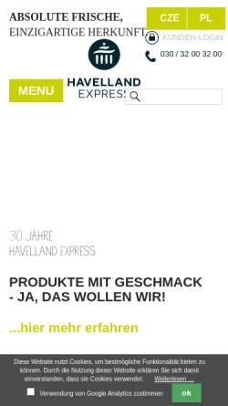 Vorschau der mobilen Webseite www.havelland-express.de, Havelland-Express
