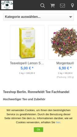 Vorschau der mobilen Webseite teeshop-berlin.de, Pralinen Tee'ke