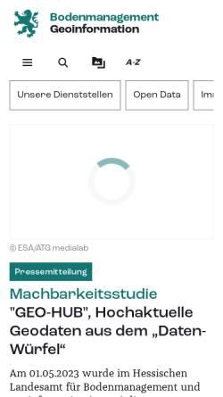 Vorschau der mobilen Webseite www.hvbg.hessen.de, Amt für Bodenmanagement Marburg