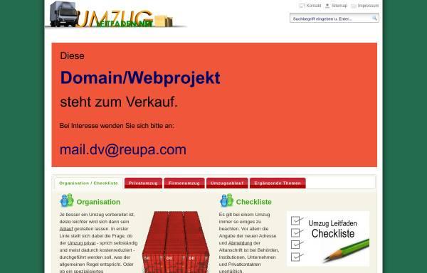 Vorschau von www.umzug.leitfaden.net, Umzug Leitfaden