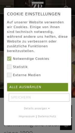 Vorschau der mobilen Webseite www.zimmer-rohde.com, Zimmer + Rohde GmbH
