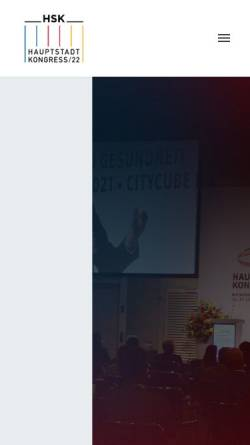 Vorschau der mobilen Webseite www.hauptstadtkongress.de, Der Hauptstadtkongress Medizin und Gesundheit 2002