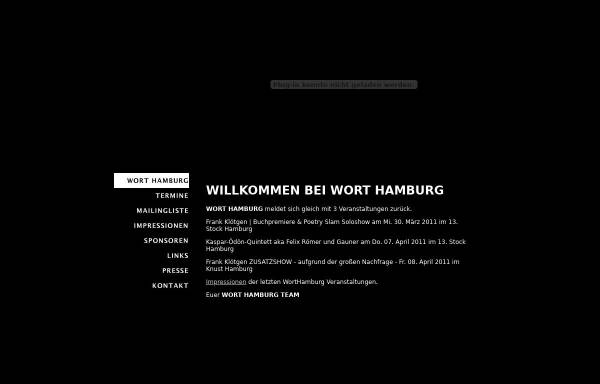 Vorschau von www.wort-hamburg.de, Wort-Hamburg