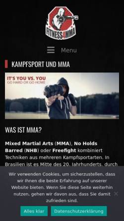Vorschau der mobilen Webseite mma-kampfsport.de, Fitness für MMA