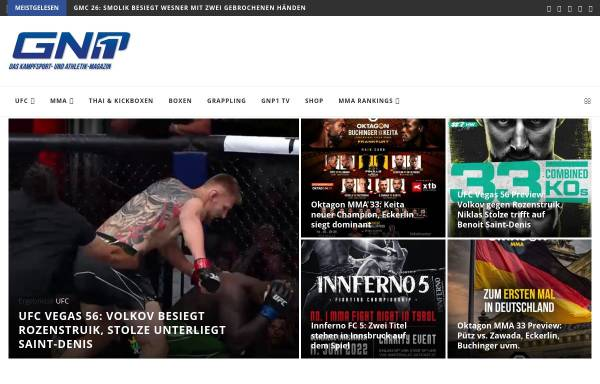 Vorschau von www.groundandpound.de, GroundandPound: Kampfsportnews