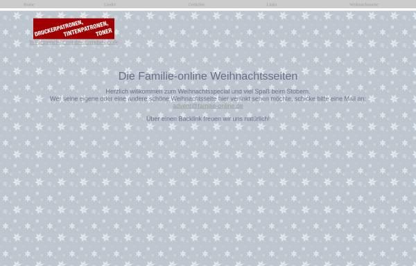 Vorschau von www.familie-online.de, Weihnachten und Advent bei Familie-online