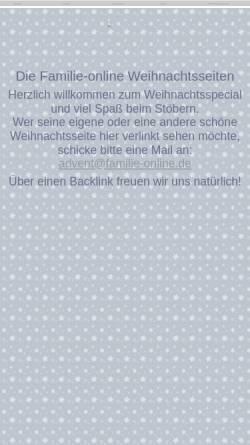 Vorschau der mobilen Webseite www.familie-online.de, Weihnachten und Advent bei Familie-online