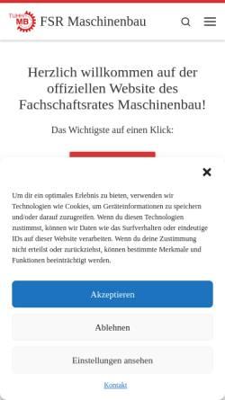 Vorschau der mobilen Webseite mb-tuhh.de, Fachschaftsrat Maschinenbau (FSR-MB)