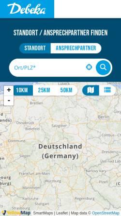 Vorschau der mobilen Webseite www.debeka.de, Versicherungen - Bezirksleiter Rolf-Jürgen Schliebe