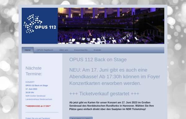 Vorschau von opus112.de, Opus 112 - Sinfonisches Blasorchester der Feuerwehr Hannover