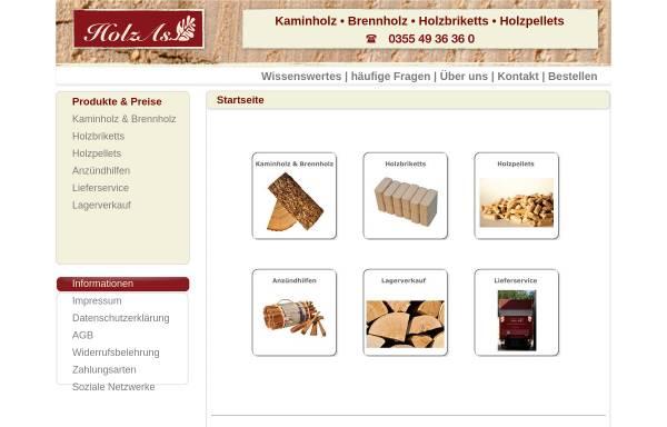 Vorschau von www.holzas.com, HolzAs - Kaminholzlieferservice, Inh. Daniel Kockisch