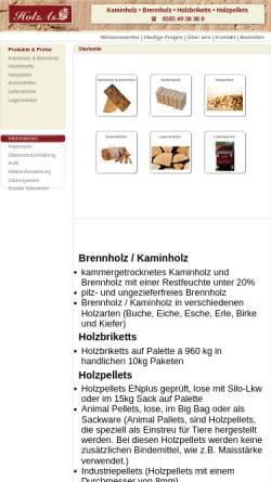 Vorschau der mobilen Webseite www.holzas.com, HolzAs - Kaminholzlieferservice, Inh. Daniel Kockisch
