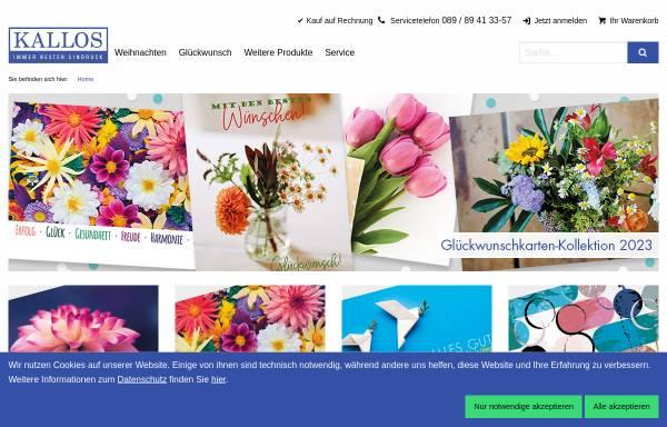 Vorschau von www.kallos.de, Kallos Verlag und Versand