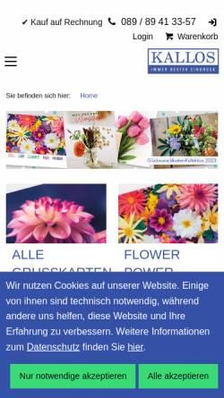 Vorschau der mobilen Webseite www.kallos.de, Kallos Verlag und Versand