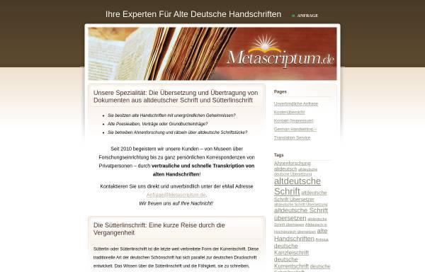 Vorschau von www.metascriptum.de, Metascriptum, Inh. Emmy Harengel