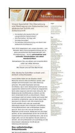 Vorschau der mobilen Webseite www.metascriptum.de, Metascriptum, Inh. Emmy Harengel