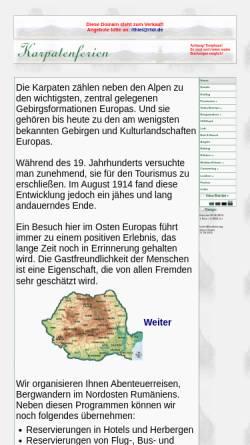 Vorschau der mobilen Webseite karpatenferien.de, Karpatenferien.de, Cătălin Nemţanu