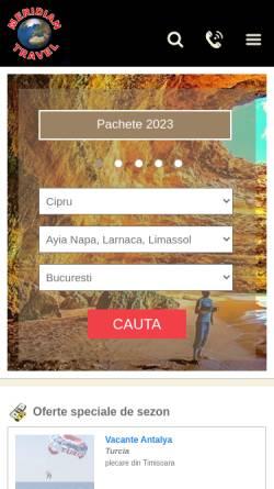 Vorschau der mobilen Webseite www.meridian-travel.ro, Meridian Travel