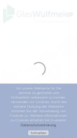 Vorschau der mobilen Webseite www.glas-wulfmeier.de, Glas Wulfmeier GmbH