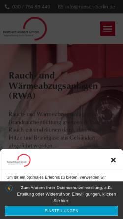 Vorschau der mobilen Webseite www.ruesch-berlin.de, Norbert Ruesch GmbH