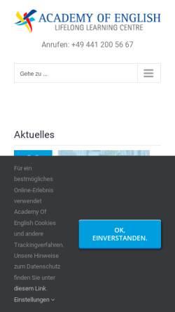 Vorschau der mobilen Webseite englisch-oldenburg.de, Englisch Conversation and Culture