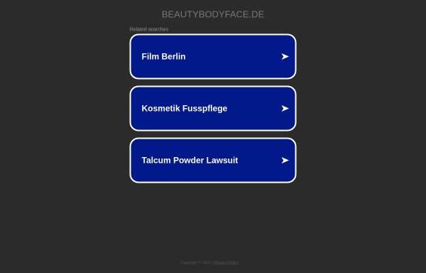 Vorschau von www.beautybodyface.de, Beautycenter Body & Face Tagesschönheitsfarm Berlin