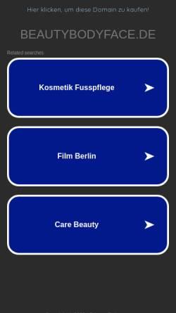 Vorschau der mobilen Webseite www.beautybodyface.de, Beautycenter Body & Face Tagesschönheitsfarm Berlin