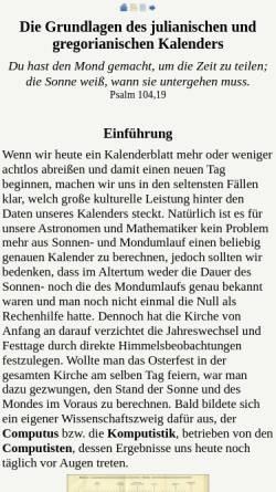 Vorschau der mobilen Webseite www.computus.de, Die Grundlagen des julianischen und gregorianischen Kalenders