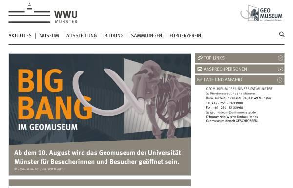 Vorschau von www.uni-muenster.de, Geomuseum