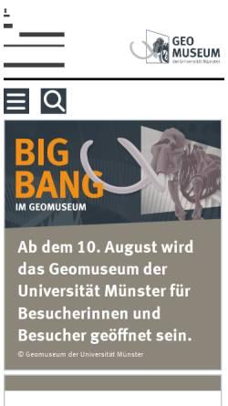 Vorschau der mobilen Webseite www.uni-muenster.de, Geomuseum