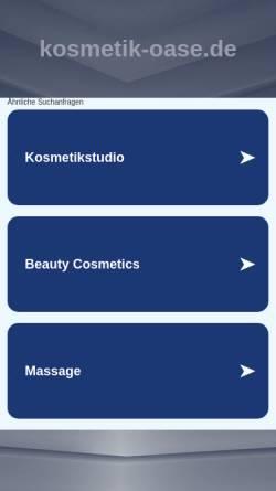 Vorschau der mobilen Webseite www.kosmetik-oase.de, Kosmetik-Oase - Alexandra Prochaska