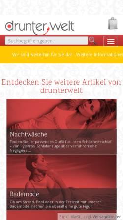 62bb35bc6081f0 ... Drunterwelt Vorschau der mobilen Webseite www.drunterwelt.com