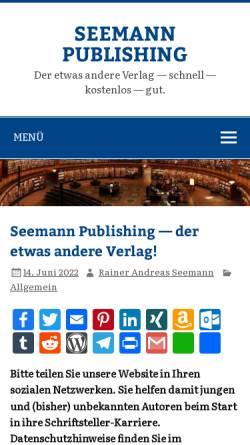 Vorschau der mobilen Webseite www.rainer-seemann.de, Seemann Consulting, Inh. Rainer Seemann