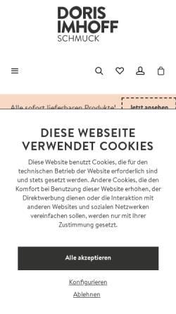 Vorschau der mobilen Webseite www.dorisimhoff.de, Doris Imhoff Schmuck