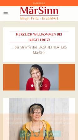 Vorschau der mobilen Webseite www.maersinn.de, Märsinn