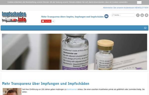 Vorschau von www.impfschaden.info, Impfen Pro und Contra