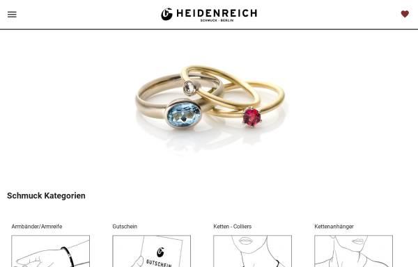 Vorschau von www.heidenreich-schmuck.de, Heidenreich Schmuck