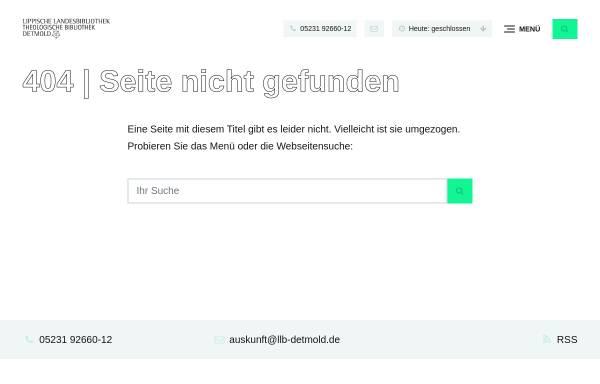 Vorschau von www.llb-detmold.de, Lippisches Literaturarchiv