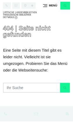 Vorschau der mobilen Webseite www.llb-detmold.de, Lippisches Literaturarchiv