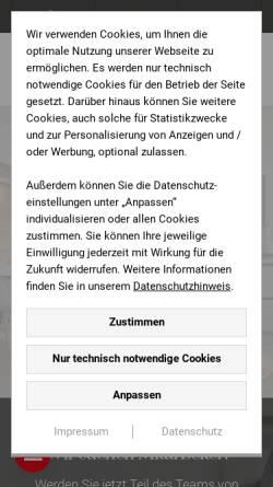 vorschau der mobilen webseite www kuechen team de kuchen team gerold