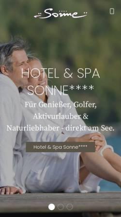 Vorschau der mobilen Webseite www.sonne.info, Ferienhotels Sonne Klopeiner See