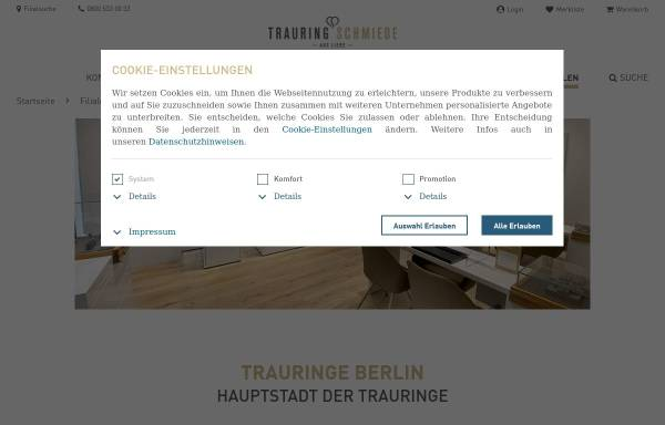Vorschau von www.trauringschmiede.de, Trauringschmiede