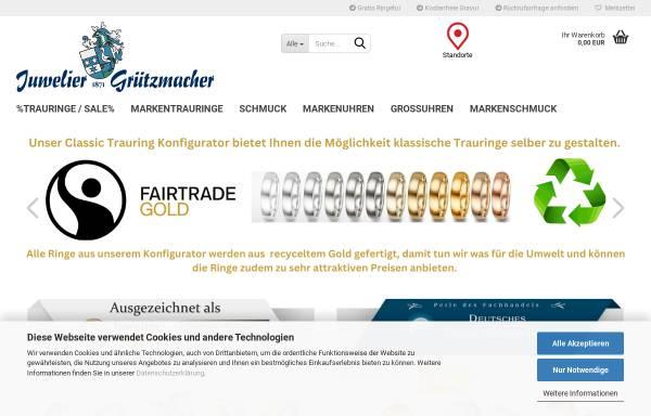 Vorschau von www.1milliontrauringe.de, Juwelier Grützmacher GmbH