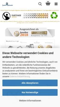 Vorschau der mobilen Webseite www.1milliontrauringe.de, Juwelier Grützmacher GmbH